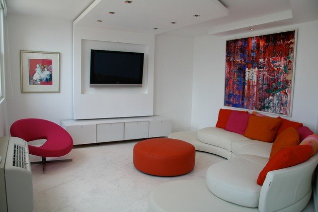 Modern and cosy living room design