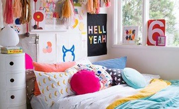 amazing colorful bedroom design
