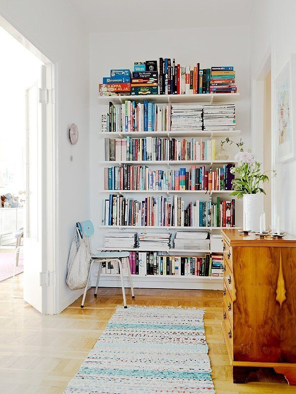 clever bookcase for small apartment