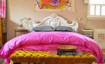 colorful hot bedroom