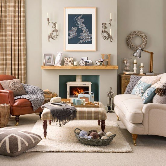 Top 5 creative and cosy living room design ideas for Country living room design ideas