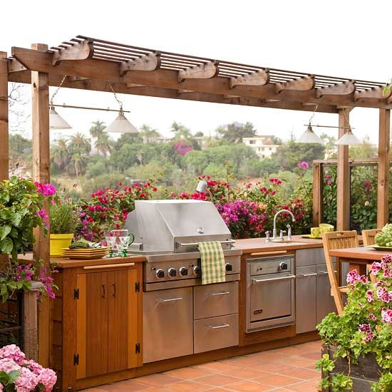 cute outdoor kitchen design