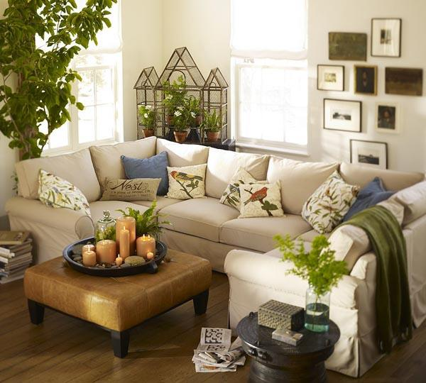 Creative design ideas for small living room for Small apartment living room interior design