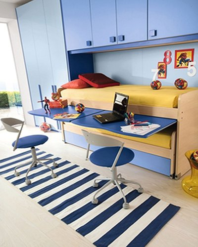 kids room decorating with multi-functional furnitures