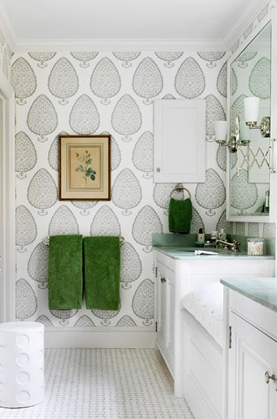 large-scale pattern for your bathroom