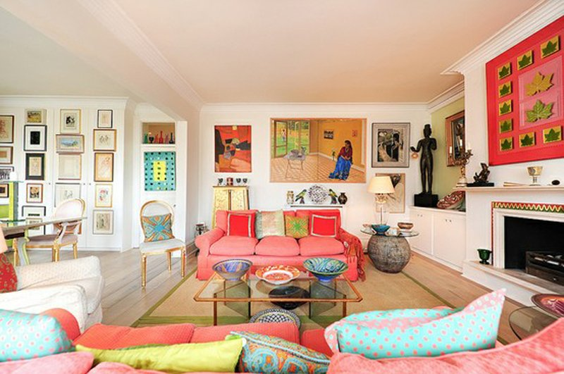 Modern colorful living room interior design for Colorful living room ideas with pictures