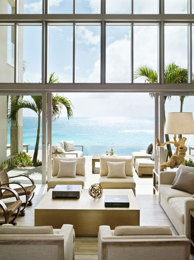 modern design with ocean view