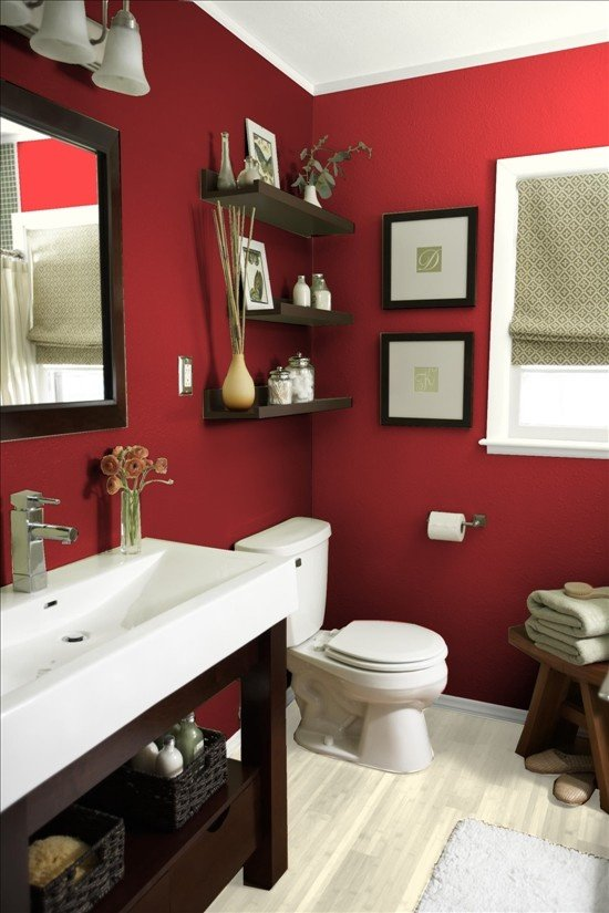 Top 5 colorful bathroom designs for Red bathroom designs