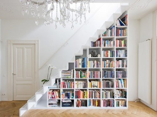 multi-functional stairs - bookself