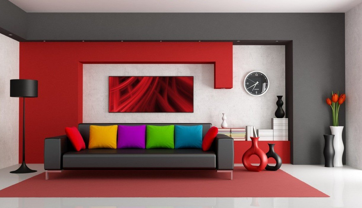 Top 5 living room design ideas for Modern living room red