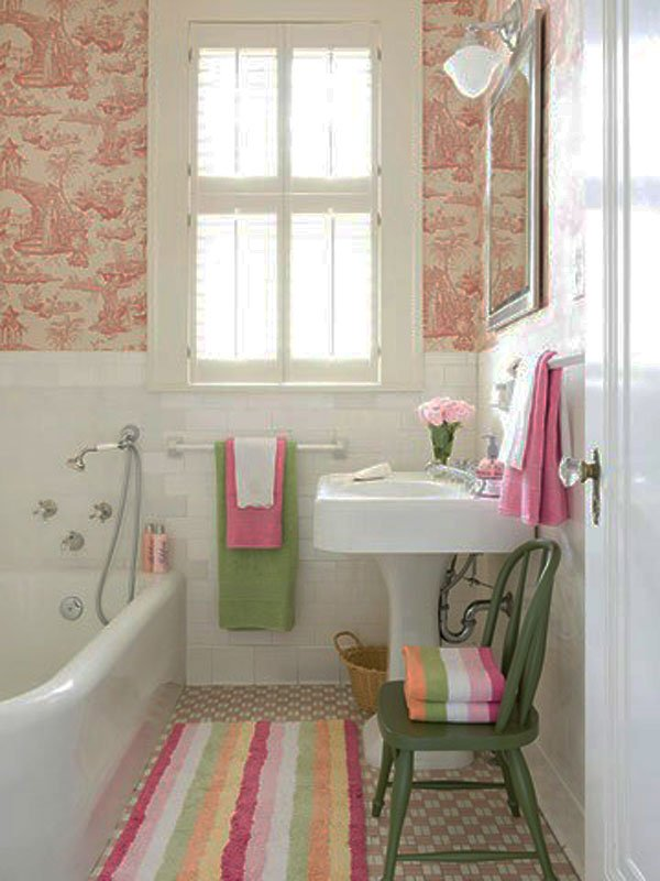 Pretty Bright Small Kitchen Color For Apartment Small Functional Colorful Bathroom Design