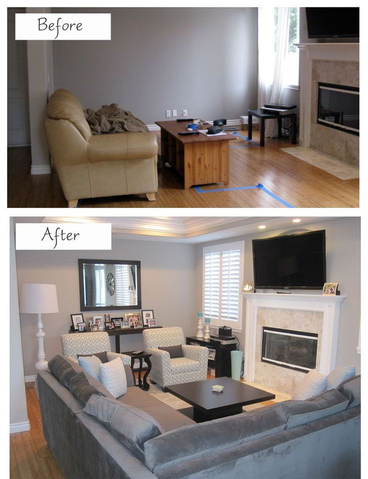 small living room design before-after