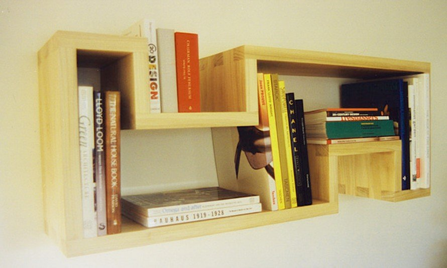 space saving wall mounted bookcase