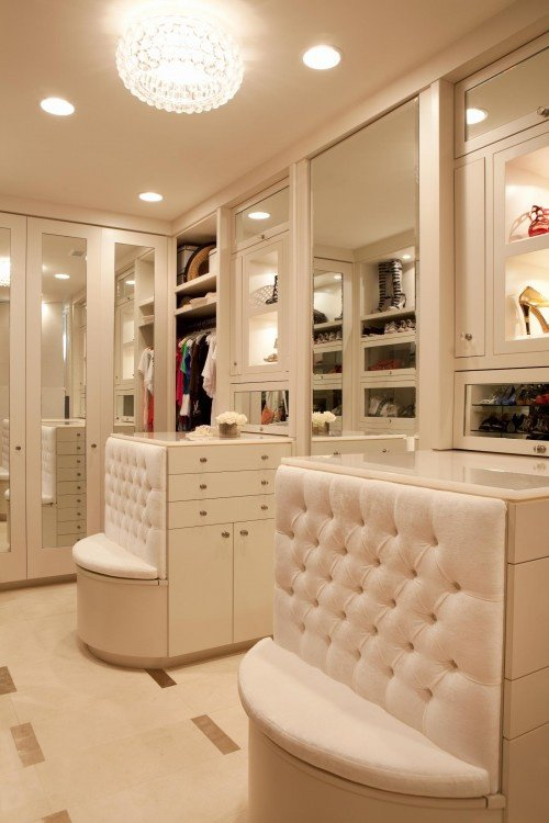very modern white wardrobe design