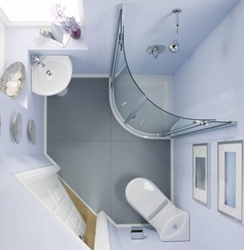 very small bathroom designed cleverly