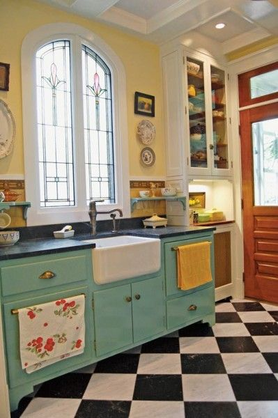 Checkerboard Kitchen Floor Color Ideas