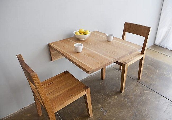 wall mounted dining table