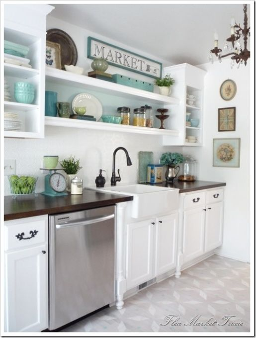 white retro kitchen design