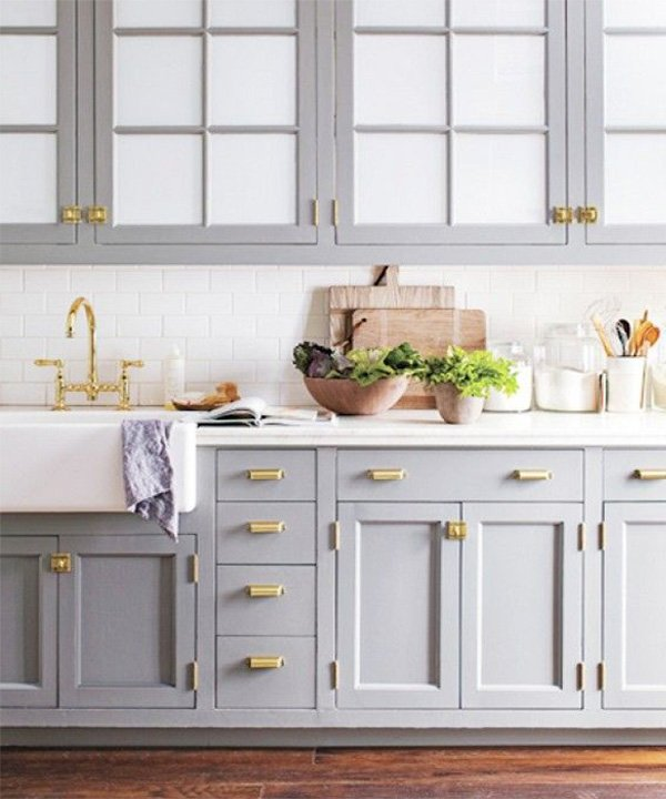 2015 gray kitchen cabinet design