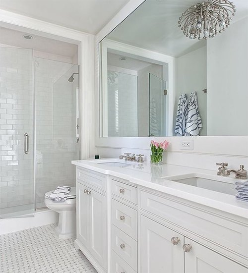 The classic white bathroom for All white bathrooms ideas