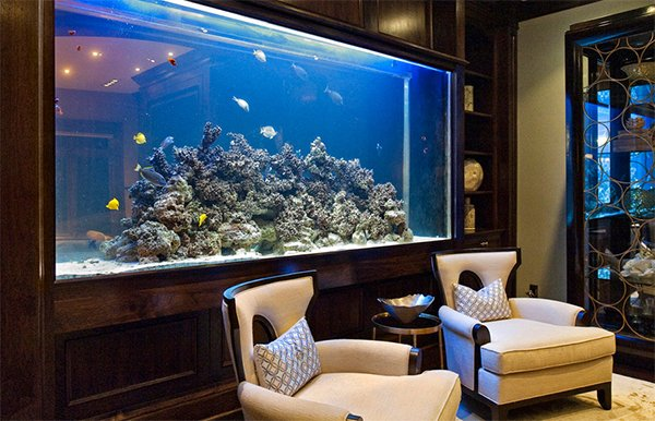 Top 7 aquarium designs for your interior design for Fish tank bedroom ideas