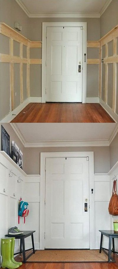 before after entryway