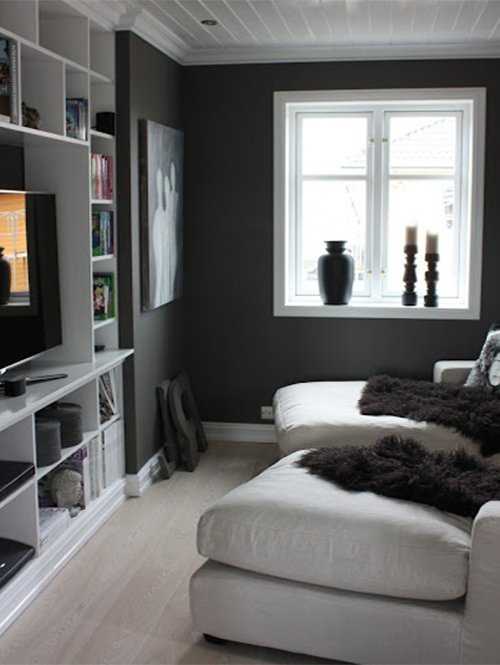 black and white small room