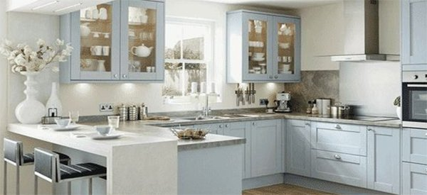 blue white kitchen trend for 2015