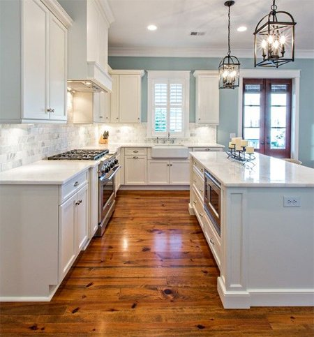 bright kitchen flooring