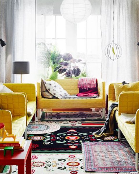 colorful living room design trend for 2015