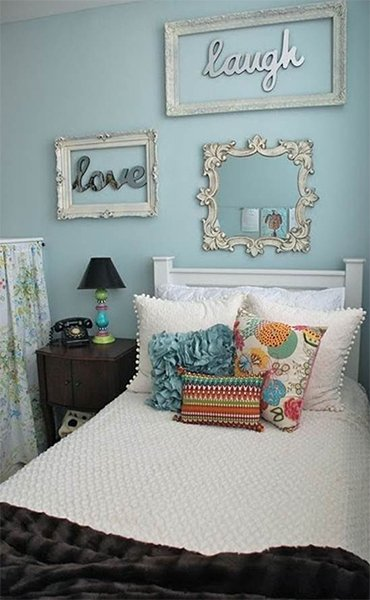 cute bedroom with pastel tones