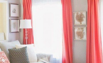 cute red curtain for living room
