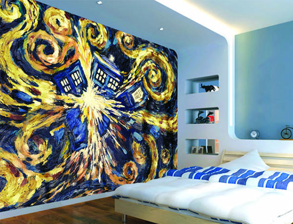 doctor who themed bedroom design