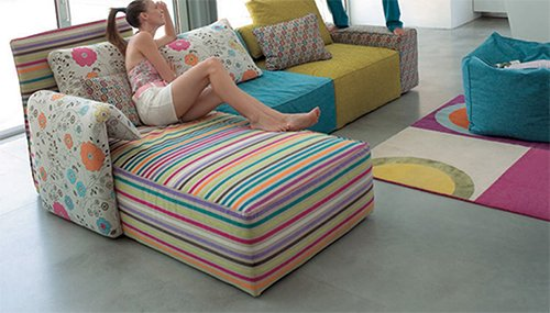 flower pattern sofa with many colors