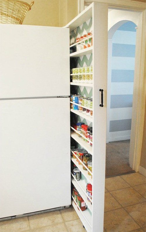 hidden kitchen storage