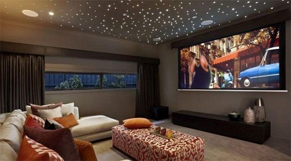 The living room theater modern house - Living room home theater ...