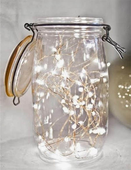 led light in the jar DIY for christmas