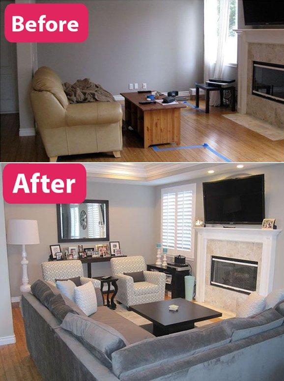 before and after living rooms small living room makeover before and after 18143