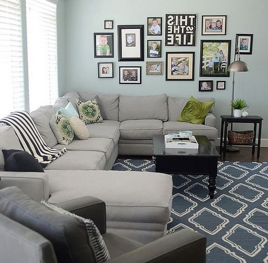 living room design with arts on the wall