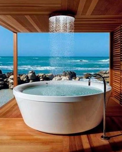Modern bath tub ideas for your bathroom design for View bathroom designs