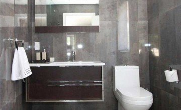 modern office bathroom
