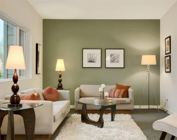 Painting your living room walls for Olive green living room ideas