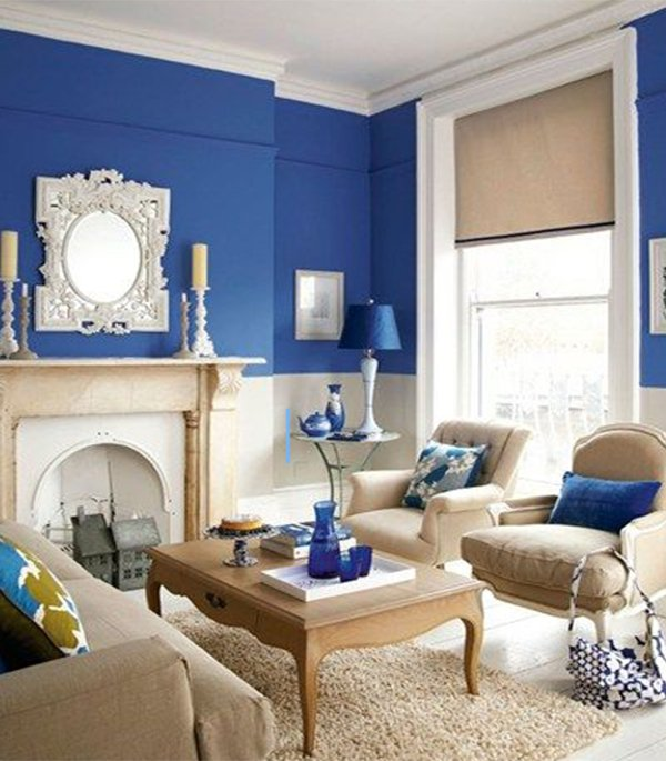 royal blue living room car tuning