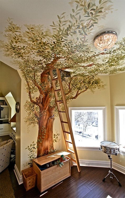 secret treehouse for your kid's bedroom