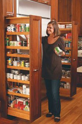 sliding pantry for small kitchens