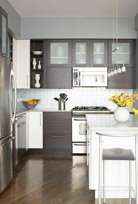 small kitchen with modern look