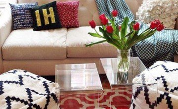 small space decorating with textures