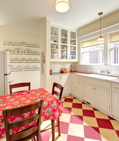 small vintage kitchen