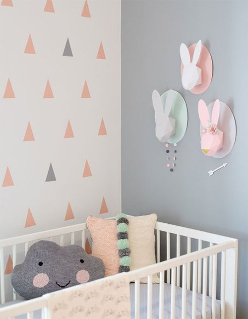 soft colored nursery design