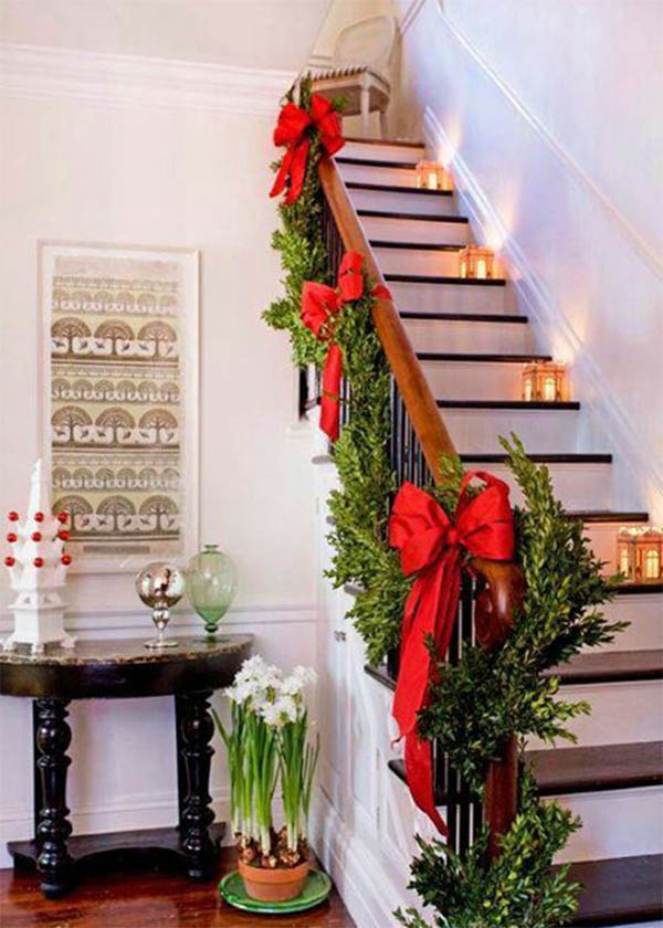 stairway design for christmas